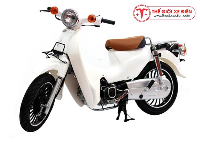Xe cub lùn 50cc màu trắng