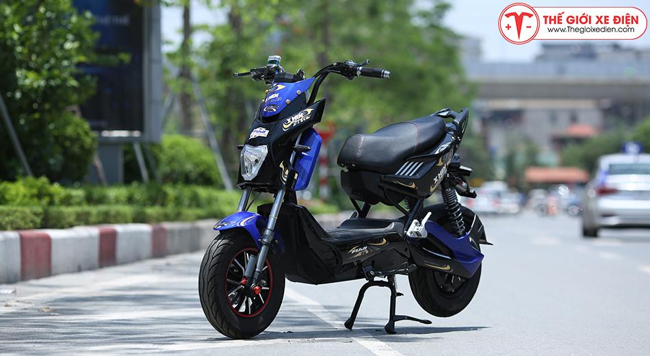 Xe máy điện Xmen Fuji 2 giảm sóc 2020 màu xanh
